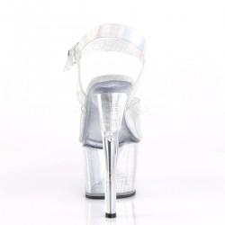 Pole dance SKY-308N sandalias empeine vinilo con inserciones holográficas
