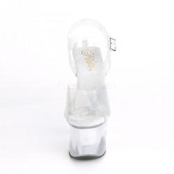Pole dance SKY-308N sandalias empeine vinilo transparente efecto craqueado