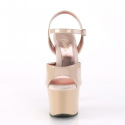 Sandalias color crema SKY-309TT con la plataforma interior en rosa gold