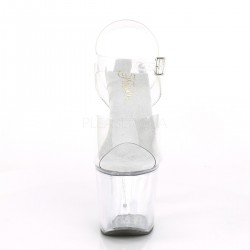 Sandalias vinilo UNICORN-708 con tacón forma de unicornio efecto cristal