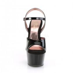 Exóticas sandalias charol ASPIRE-609TT plataforma media interior Rosa Gold