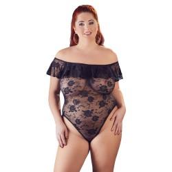 Precioso body de encaje elástico para mujeres con curvas hasta talla 4XL