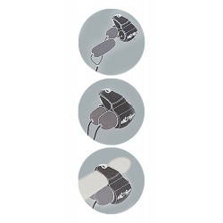 "Anillo vibrador "" JETT"" para el glande con 2 bandas vibratorias y 5 ritmos"