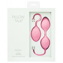 """Dúo de bolas chinas rosa """"Pillow Talk Frisky"""" con cristal de Swarovski"""